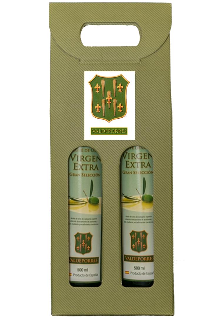 Caja de 2 botellas de aceite de oliva