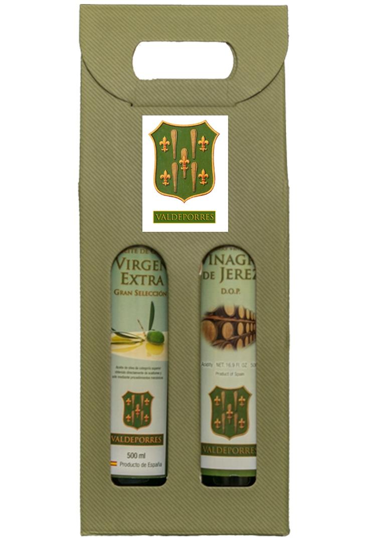 Caja aceite y vinagre